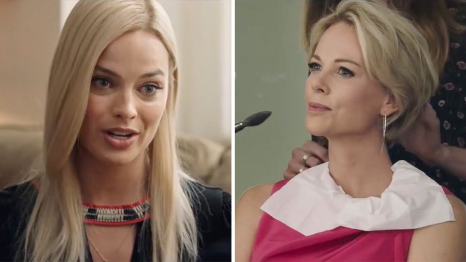 Margot Robbie und Chalize Theron in Bombshell.