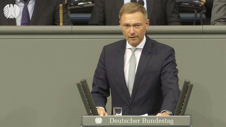 Emotionale Rede: Christian Lindner entschuldigt sich im Bundestag