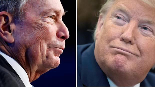 Michael Bloomberg (l.), demokratischer Präsidentschaftsbewerber, und US-Präsident Donald Trump