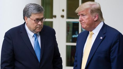 Justizminister William Barr (l.) hat Donald Trump kritisiert