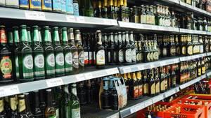 Bier im Supermarkt