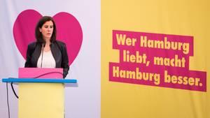 Hamburg: Katja Suding, Landesvorsitzende der Freien Demokraten (FDP), spricht während eines Landesparteitags