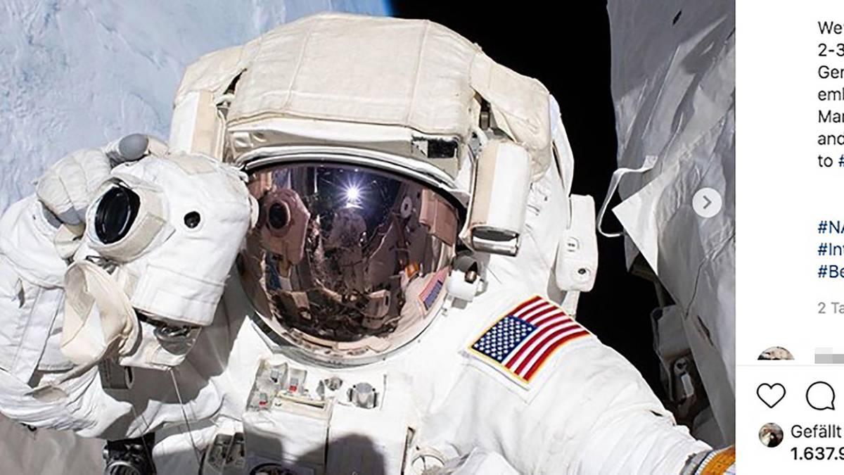 Die Nasa sucht über Instagram neue Astronauten für eine Mond- oder Mars-Mission