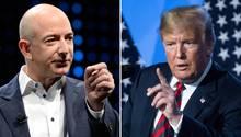 Der mächtigste und der reichste Mann der Welt: Donald Trump und Jeff Bezos können sich nicht wirklich leiden