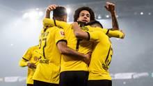 Borussia Dortmund: Spieler jubeln gegen Eintracht Frankfurt