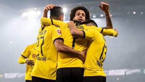 Fußball-Bundesliga: Vier Tore als Antwort auf zwei Niederlagen: Borussia Dortmund schießt Eintracht Frankfurt ab