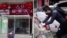 Coronavirus in Wuhan: So sieht es in den Supermärkten der Sperrzone aus