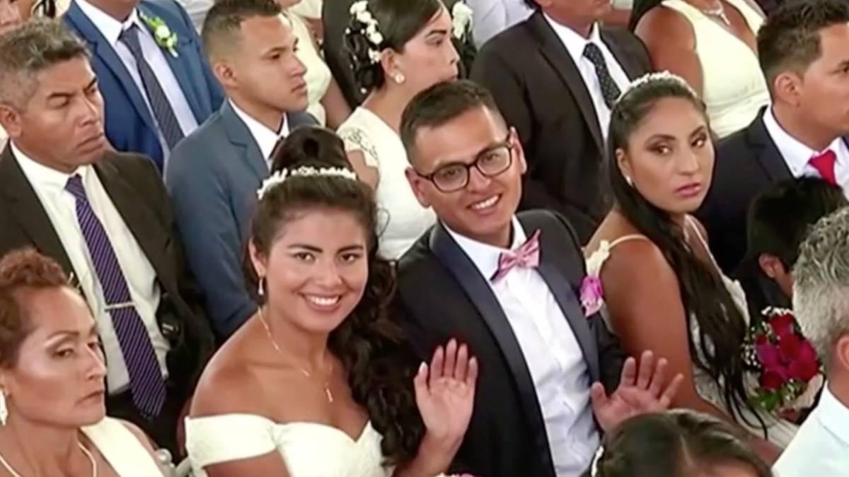 Massenhochzeit: 100 Paare geben sich in Lima das Ja-Wort
