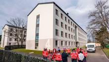 Quarantäne-Gebäude aus dem Gelände der Südpfalz-Kaserne der Bundeswehr