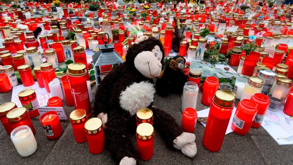 Trauerkerzen in Krefeld