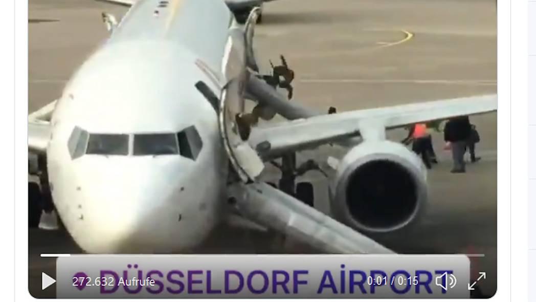 Airport Düsseldorf: Passagiere gelangen über Notrutschen ins Freie