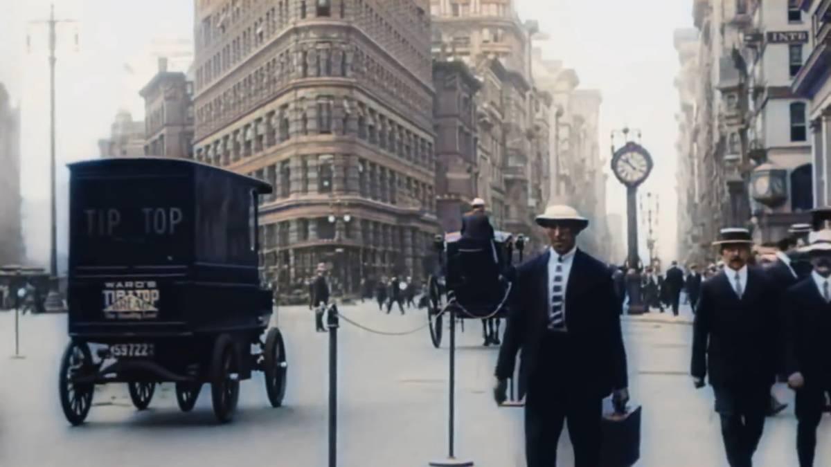 New York, 1911, in Farbe: So sah die Metropole kurz vor dem Ersten Weltkrieg aus