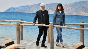 Karl Lagerfeld und Virginie Viard