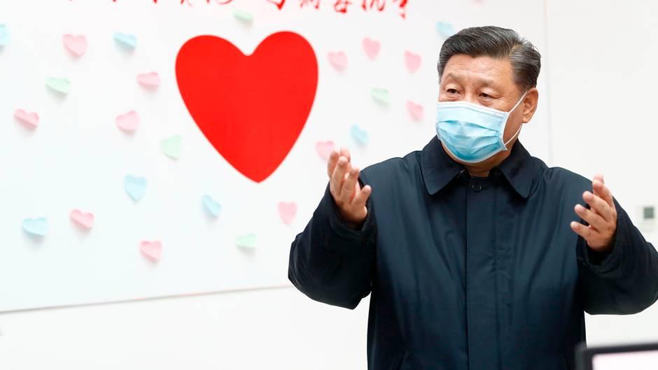 Xi Jinping, Präsident von China, besucht die chinesische Seuchenschutzbehörde