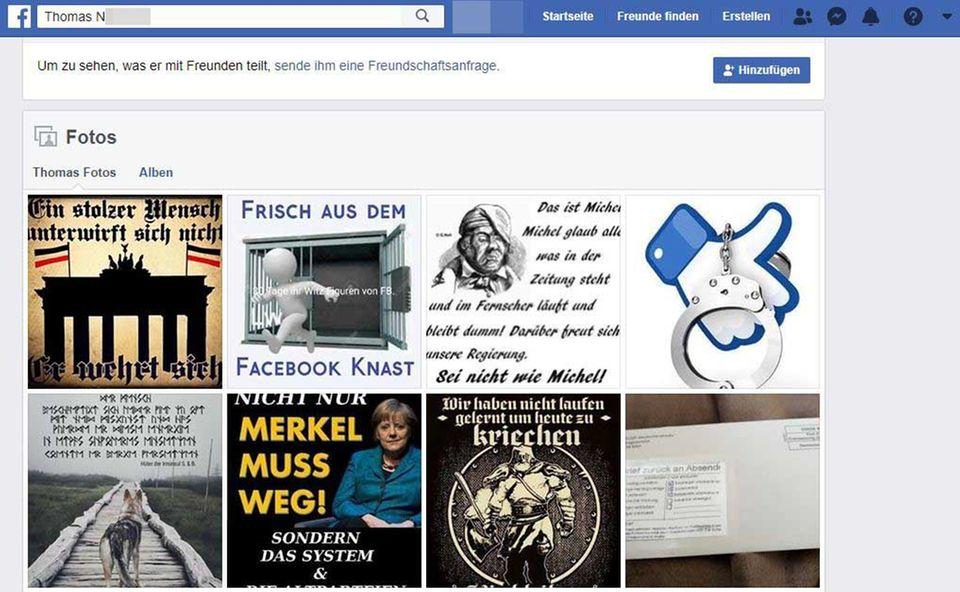 Facebook-Profil von Thomas N.
