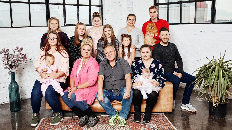 Familie Wollny bei einem Fotoshooting
