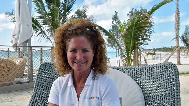 Michelle McGregor, die Operations-Managerin von Ocean Cay