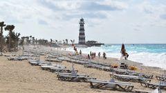An der Westküste von Ocean Cay tobt die Brandung: Sunset Beach