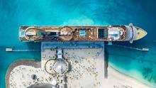 Der Anleger von Ocean Cay aus der Drohnenperspektive: Die Insel liegt 100 Kilometer östlich von Miami.