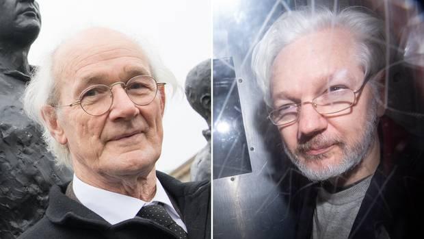 John Shipton (l.) sorgt sich um seinenSohn, den inhaftierten Wikileaks-Gründers JulianAssange