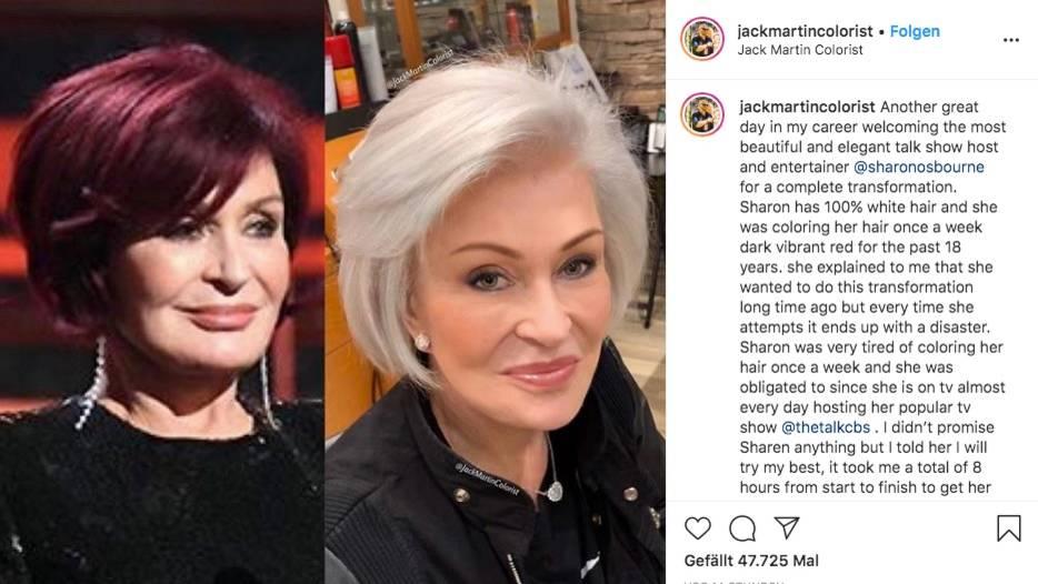 Vip News: Sharon Osbourne zeigt sich mit platinblonden Haaren