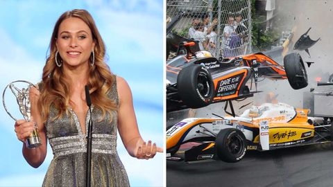 "Formel-3-Rennfahrerin Sophia Flörsch mit dem ""Laureus World Sports Award""; Unfall"