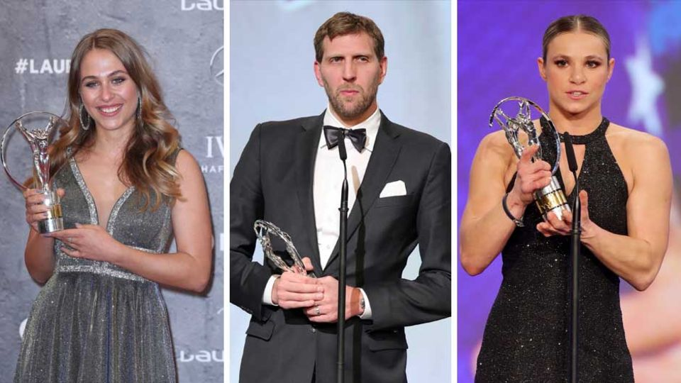 """Laureus World Sports Awards""-Preisträger Sophia Flörsch, Dirk Nowitzki, Oksana Masters"