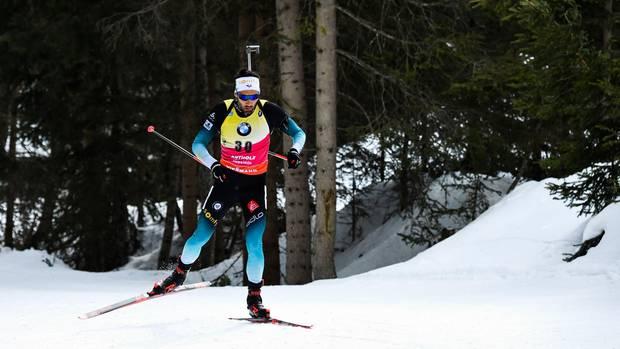 Sport kompakt: Biathlet Martin Fourcade auf der Strecke in Antholz