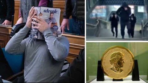 Angeklagter im Berliner Landgericht; Fahndungsvideo; Goldmünze im Bode-Museum