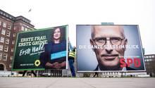 Wahlplakate in Hamburg