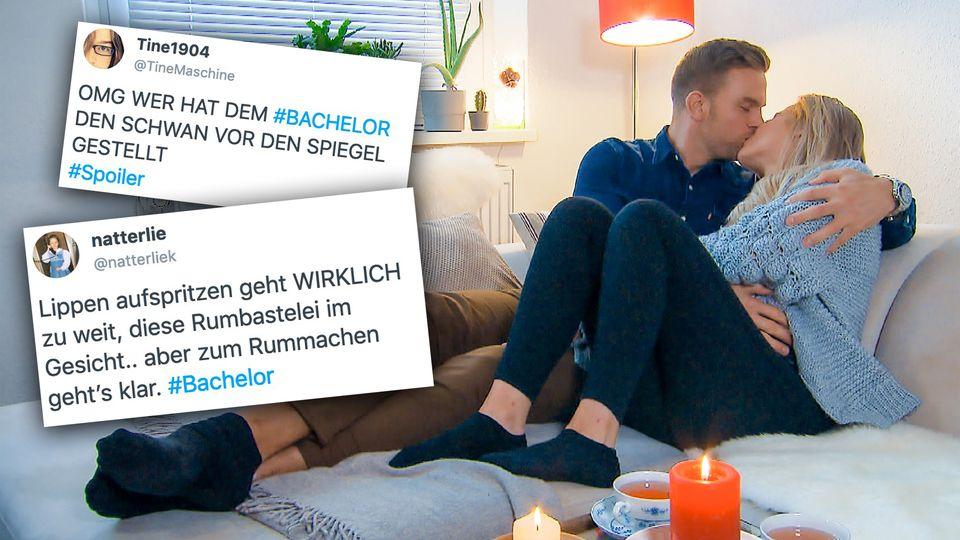 """Der Bachelor Sebastian Preuss knutscht beim """"Homedate"""" mit Leah."""