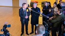 Oberbürgermeister Claus Kaminsky und Ministerpräsident Volker Bouffier