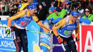 sport kompakt: Franziska Preuß schickt ihren Teamkollegen Erik Lesser auf die nächste Runde
