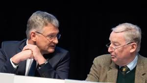 Krude Sichtauf die Morde von Hanau: die AfD-Politiker Jörg Meuthen und Alexander Gauland