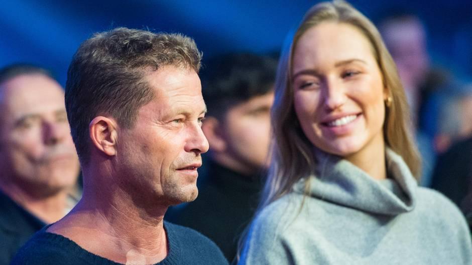 Til Schweiger und seine Freundin Sandra bei einem Boxkampf in Hamburg