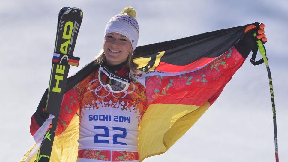 Maria Höfl-Riesch holte in Sotschi mehrere Olympische Medaillen