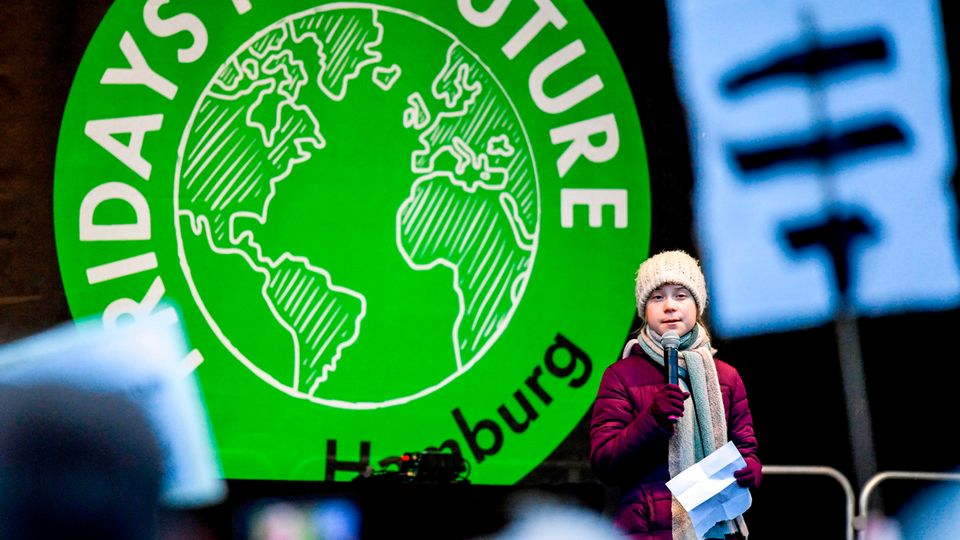Greta Thunberg bei der Fridays-for-Future-Demonstration in Hamburg