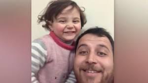 Gegen das Trauma: Syrischer Vater und Tochter lachen über Bomben