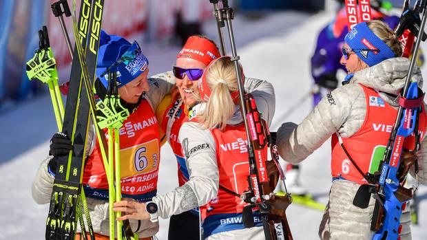 sport kompakt - staffel-silber für deutsche biathletinnen