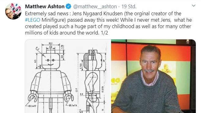 Er erfand das berühmte Lego-Männchen: Designer Jens Nygaard Knudsen ist tot