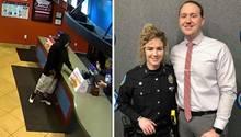 Dieses mutige Polizisten-Paar hat einem Restaurant einenRaubüberfall verhindert