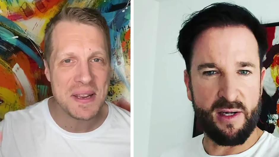 Oliver Pocher und Michael Wendler bei Instagram