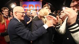 SPD Spitzenkandidat und Erster Bürgermeister Peter Tschentscher