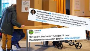 Twitter-Reaktionen zu #HamburgWahl