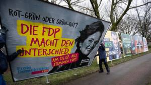 FDP-Plakat in Hamburg