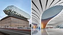Bauwerke in Belgien und China