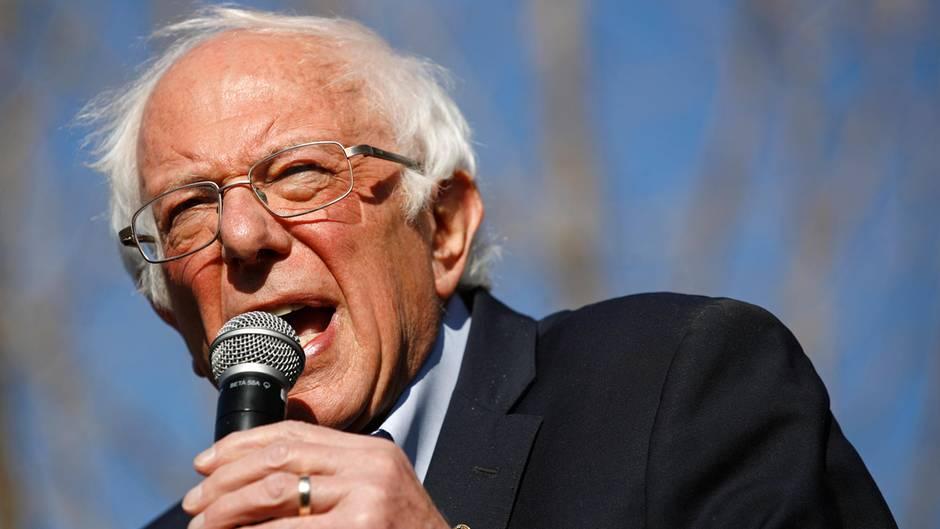 Bernie Sanders, demokratischer Bewerber um die Präsidentschaftskandidatur, spricht bei einer Wahlkampfveranstaltung