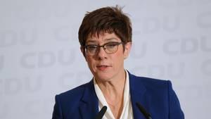 Die CDU-Parteivorsitzende Annegret Kramp-Karrenbauer