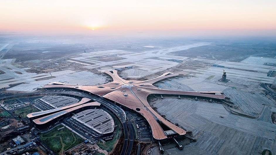 Flughafengebäude in Peking