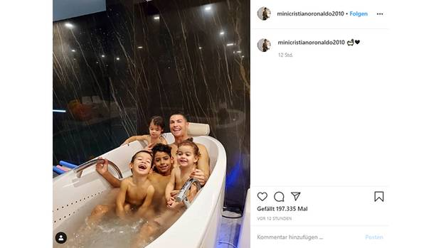 Vip News: Mini Cristiano: Ronaldos Sohn hat eigenen Instagram-Account